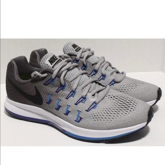 sports shoes b595c 097d5 Nike Air Zoom Pegasus 33 Grey Blue White Running